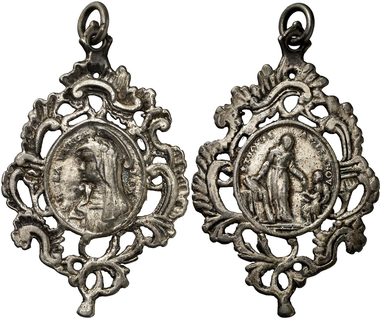 Santa Rosa de Lima / Santo Tomas de Villanueva (R. Cat. PFV Rosa 1 Villanueva 1) Medall11