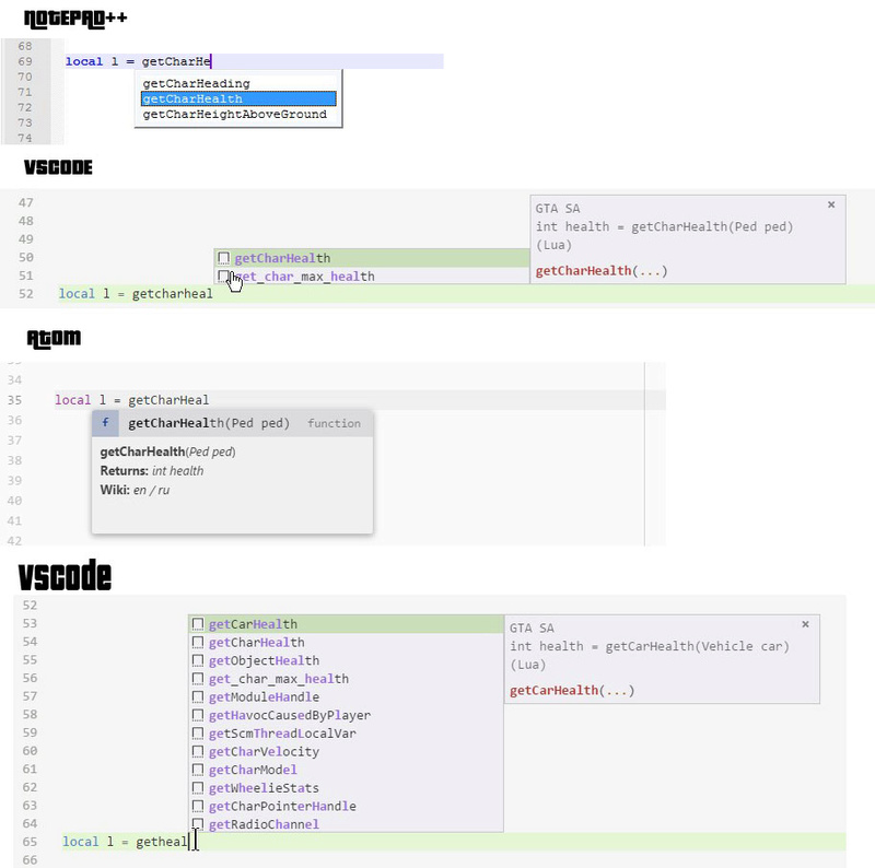 [Moonloader] Suporte Autocompletar para VSCode Compar10