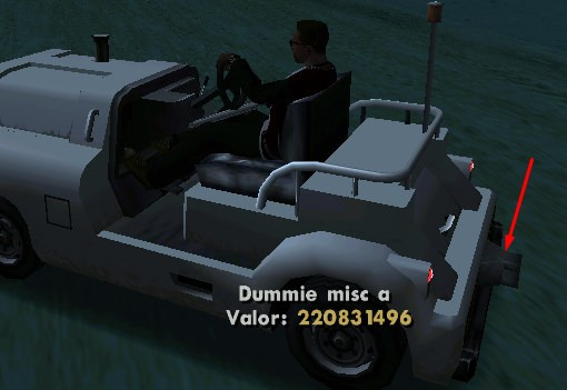 Lua ou GTA3Script: Pegar referencia offset de dummie em veículos Dummie10
