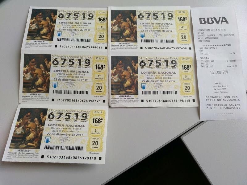 Lotería Navidad 2017... 67519... 5 décimos Img-2013