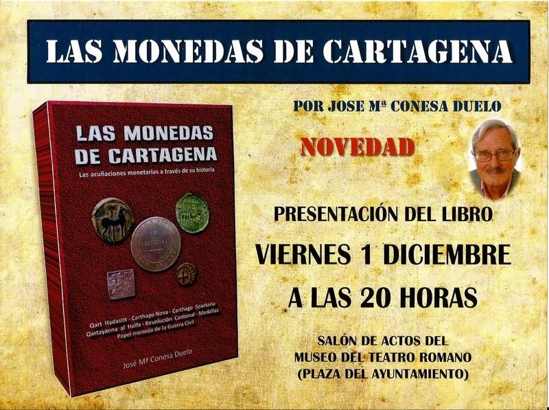 NOVEDAD EDITORIAL: LAS MONEDAS DE CARTAGENA de José María Conesa Anunci10