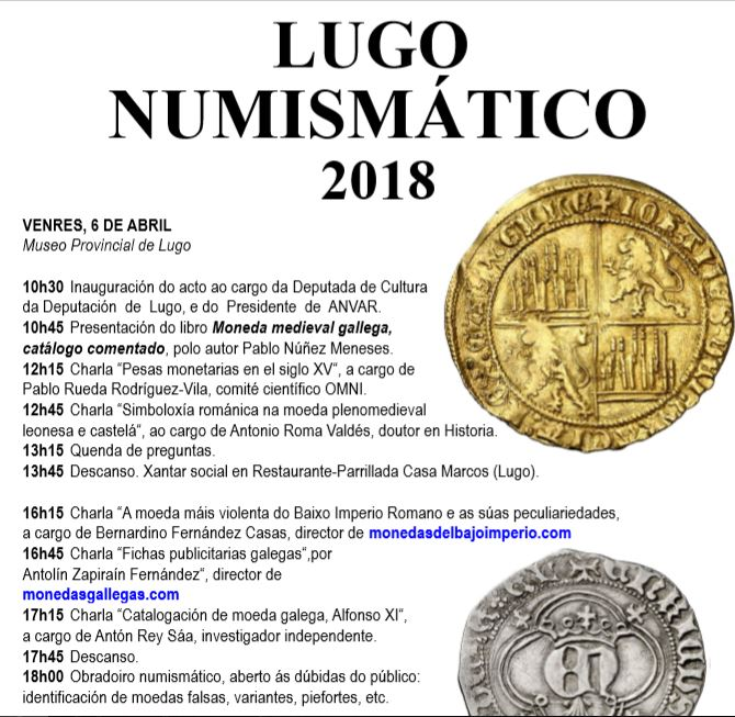 LUGO NUMISMATICO 2018 Cartaz10
