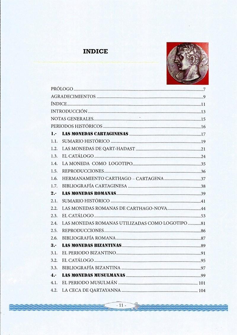 NOVEDAD EDITORIAL: LAS MONEDAS DE CARTAGENA de José María Conesa Indice10