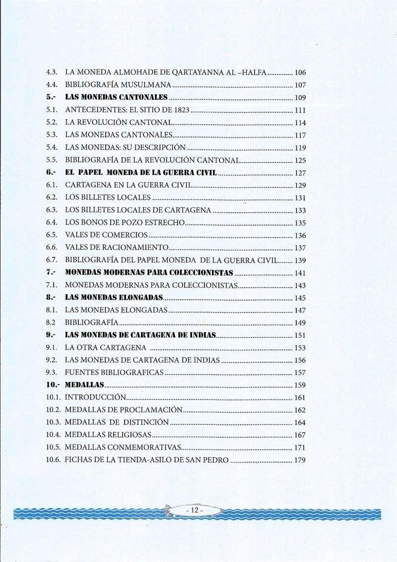 NOVEDAD EDITORIAL: LAS MONEDAS DE CARTAGENA de José María Conesa Indice11