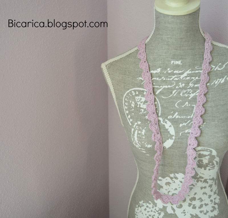 Collares sencillos a ganchillo Collar13