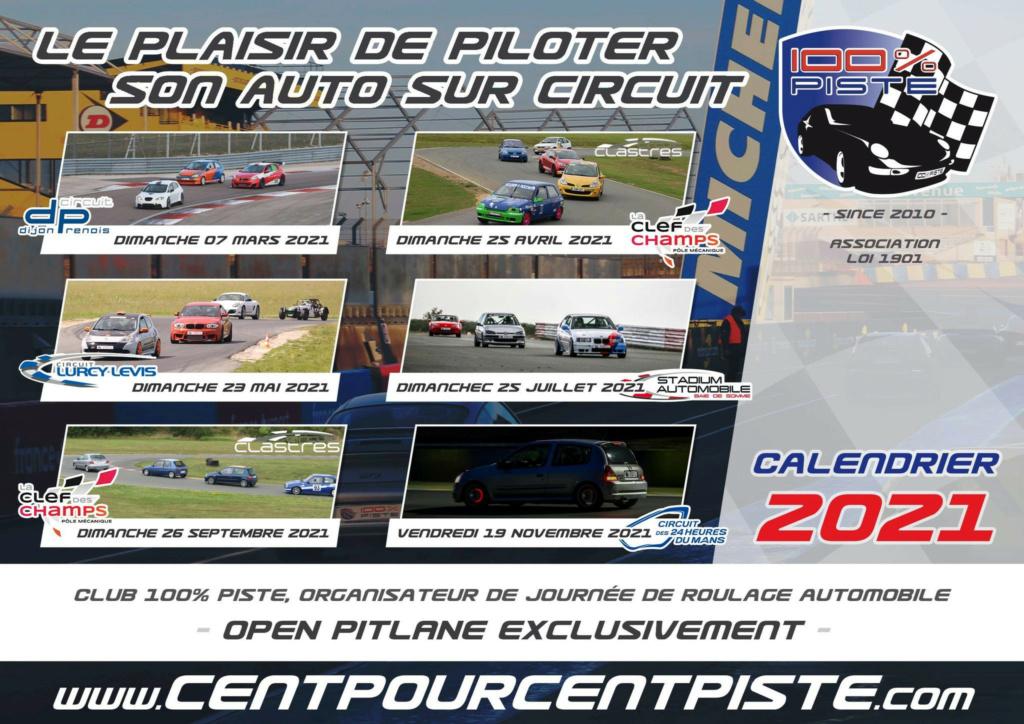 "CALENDRIER 100% PISTE ""SAISON 2021"". Calend16"