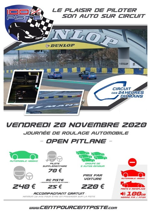 [20 Novembre 2020] 100% PISTE au MANS Bugatti [COMPLET] Fliyer20
