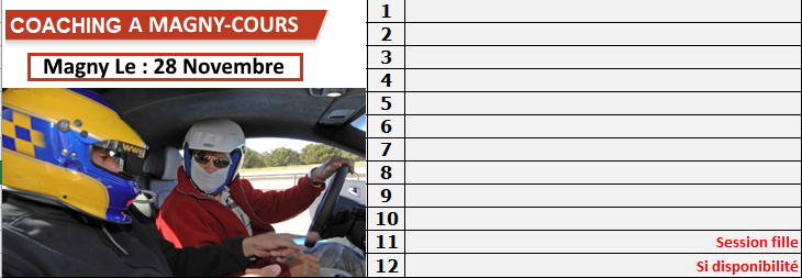 Coaching de 30 mn gratuit le 28 Novembre à Magny-Cours F1. Liste_10