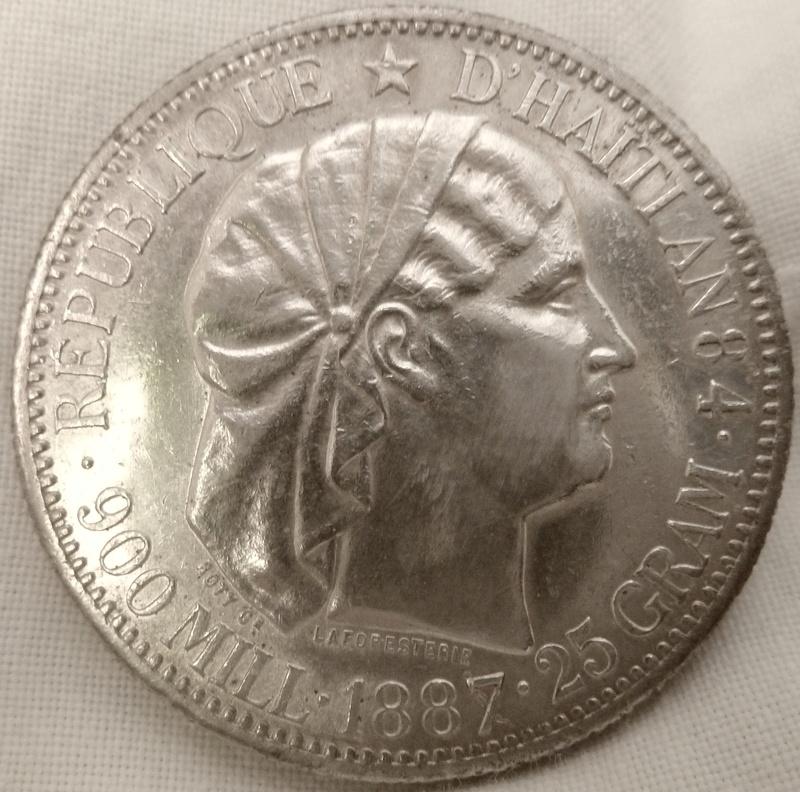 1 Gourde. República de Haiti 1887 P1120610