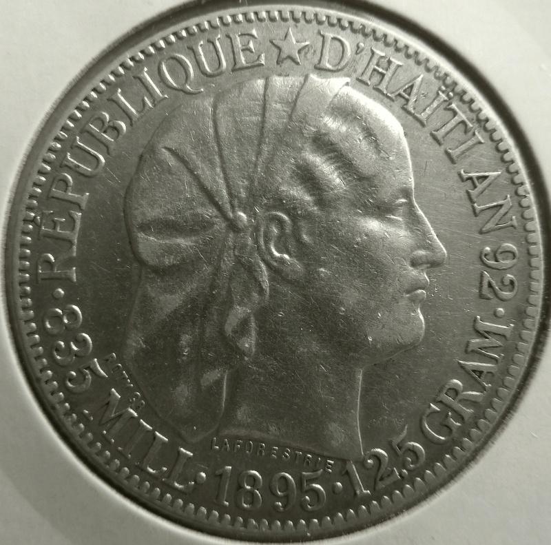 50 centimos de gourde. Haití 1895 P1120910