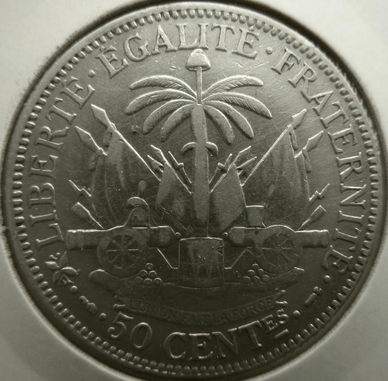 50 centimos de gourde. Haití 1895 P1120911