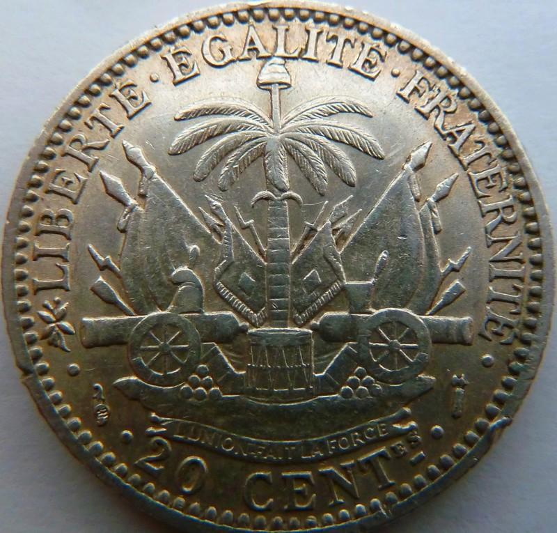 20 céntimos de gourde. Haití 1890 P1120913