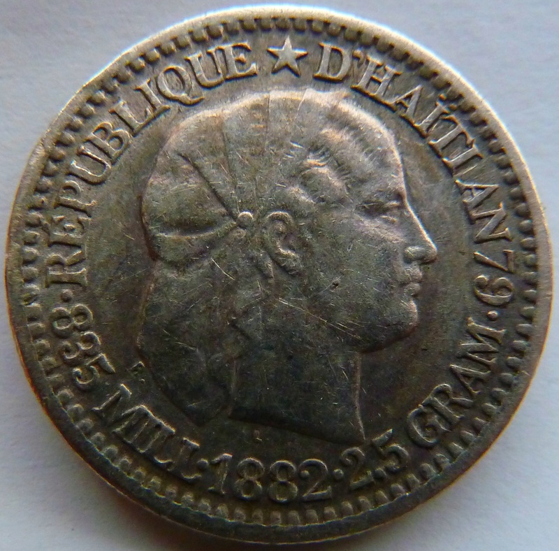10 céntimos de gourde. Haití 1882. P1120915