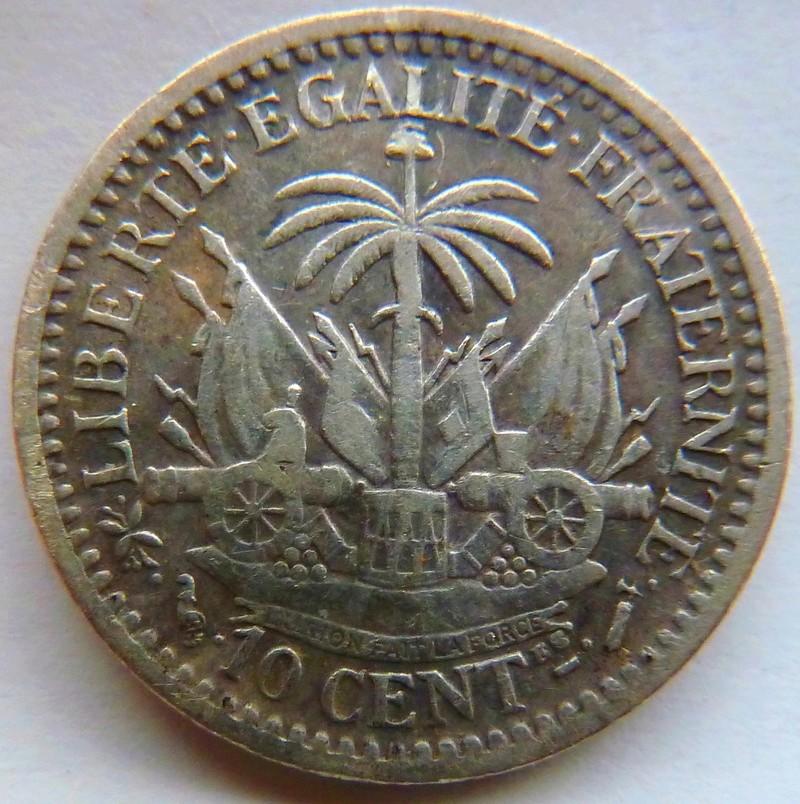 10 céntimos de gourde. Haití 1882. P1120916