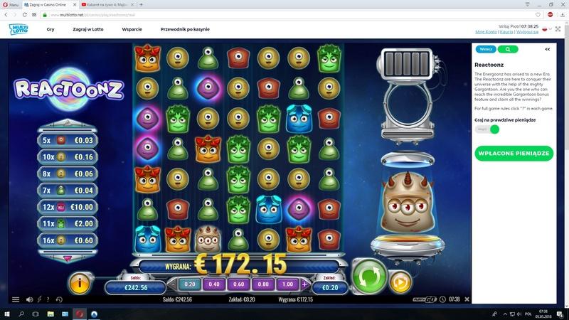 Screenshoty naszych wygranych (minimum 200zł - 50 euro) - kasyno - Page 7 Reacto11