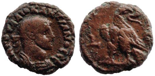 Tetradracma de Potín de Diocleciano. Alejandría Diocle10