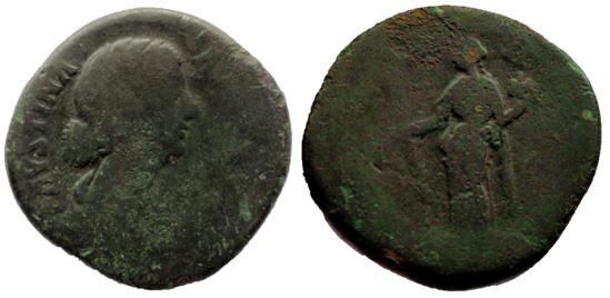 Sestercio de Faustina II. HILARITAS / S C Fausti13