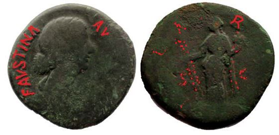 Sestercio de Faustina II. HILARITAS / S C Fausti14