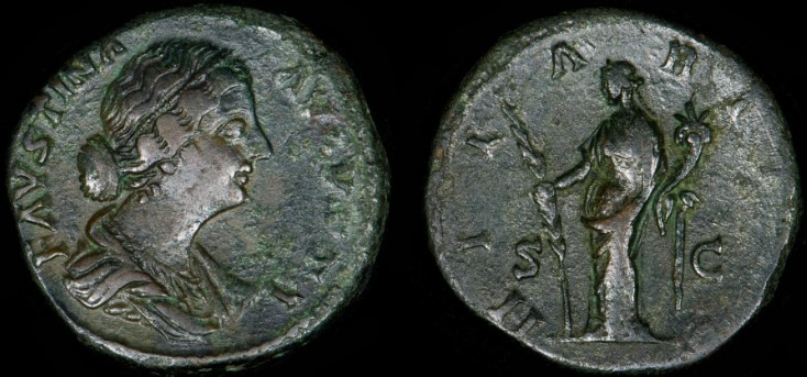 Sestercio de Faustina II. HILARITAS / S C Fausti15