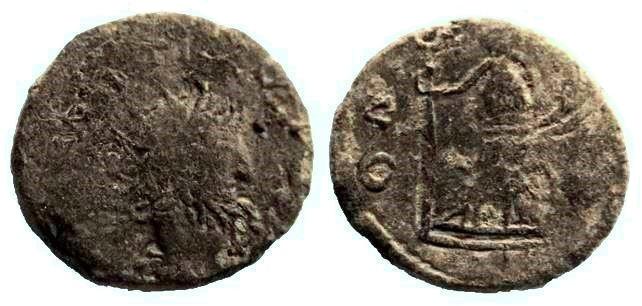 Antoniniano de imitación bárbara de Tétrico I Imitay14