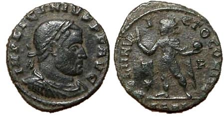 Nummus de Licinio I. SOLI INVICTO COMITI. Arlés Licini12