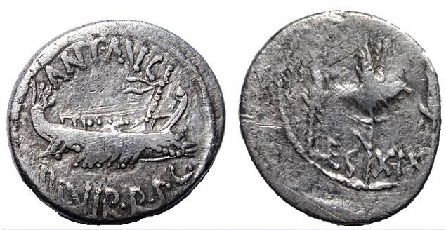 Denario legionario de Marco Antonio - LEG XIX Marcus10
