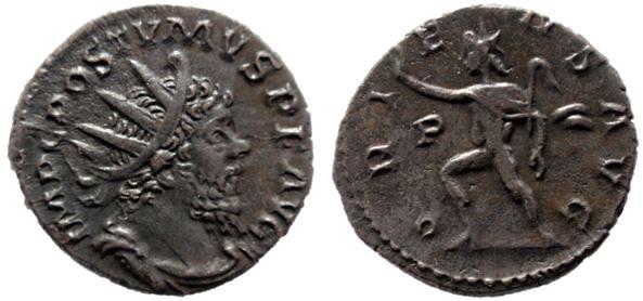 Antoniniano de Póstumo. ORIENS AVG. Trier Postum10
