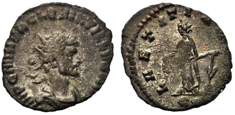 Antoniniano de Quintilo. LAETITIA AVG - XII. Roma Quinti10