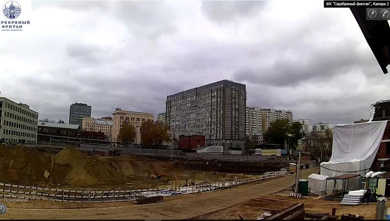 Веб-камеры на площадке строительства ЖК «Серебряный фонтан»  55555510