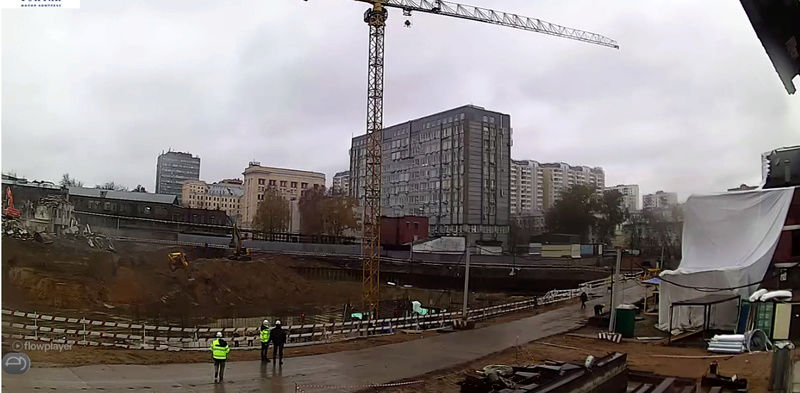 Веб-камеры на площадке строительства ЖК «Серебряный фонтан»  Amyutd10