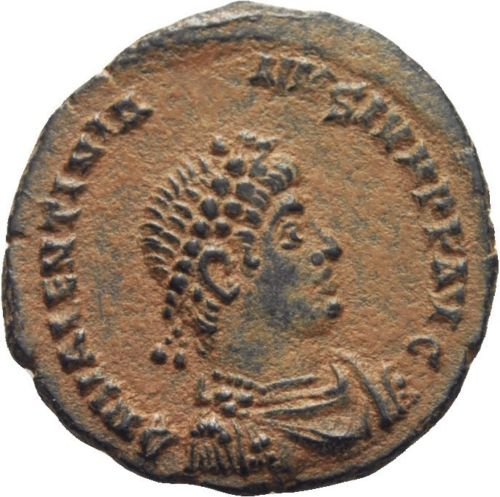 AE3 de Valentiniano II. VRBS ROMA. Antioquía Follis12