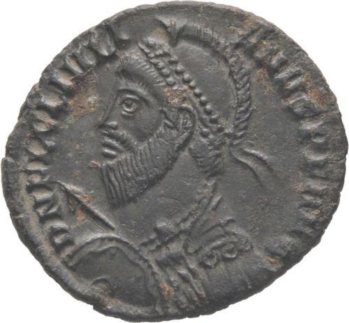 AE3 de Juliano II el Apóstata. VOT / X / MVLT / XX. Heraclea Julian12