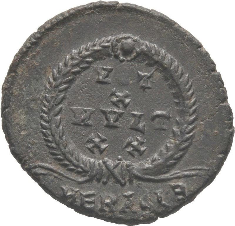 AE3 de Juliano II el Apóstata. VOT / X / MVLT / XX. Heraclea Julian13