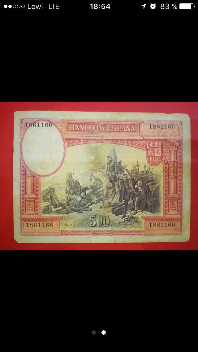 500 Pesetas 1935 (Hernán Cortés) - Anuncio Wallapop 18611611
