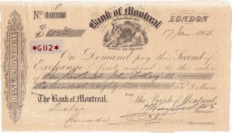 Letra de Cambio - Bank of Montreal (1905) 1905_l11