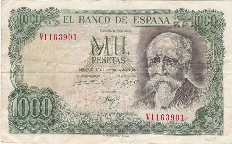 Billete Falso de 1000 Pesetas 1971 (Echegaray) 1971_p10