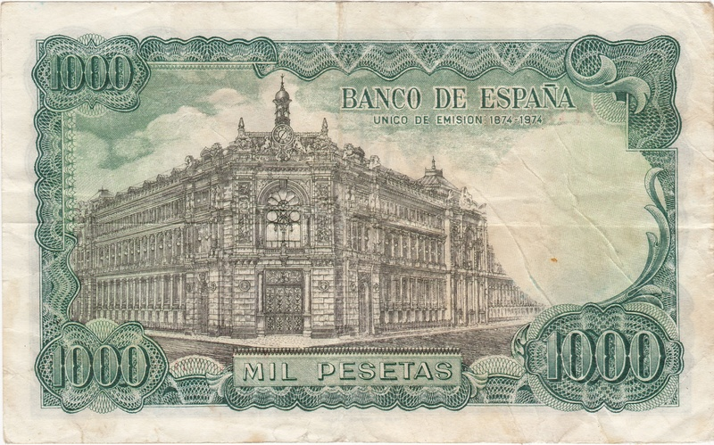 Billete Falso de 1000 Pesetas 1971 (Echegaray) 1971_p11