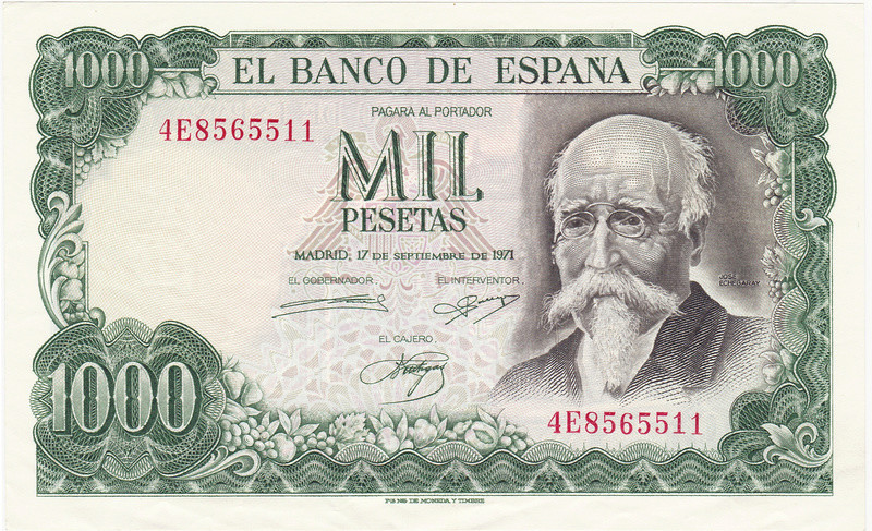 Billete Falso de 1000 Pesetas 1971 (Echegaray) 1971_p13
