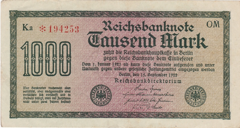 Billetes de reemplazo, no españoles - Página 3 Aleman11
