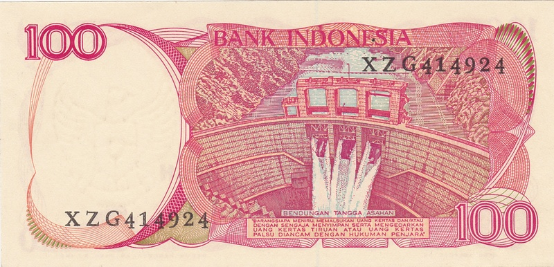 Indonesia - 100 Rupias 1984 (Variantes Calcográfica y Litográfica) Indone11