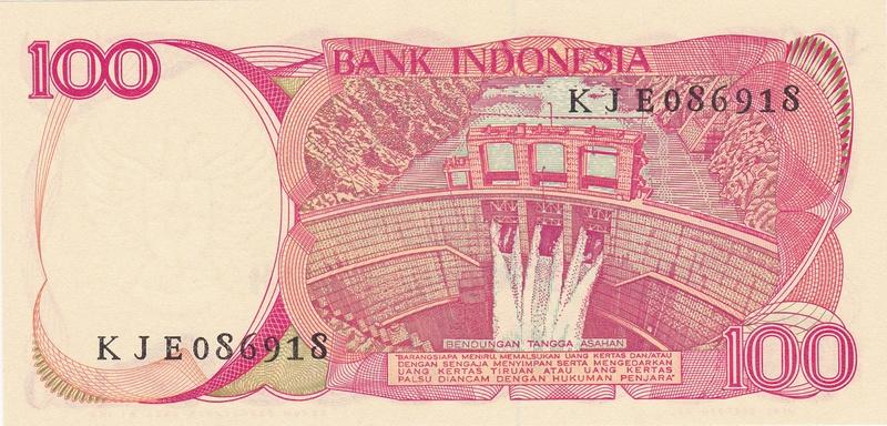 Indonesia - 100 Rupias 1984 (Variantes Calcográfica y Litográfica) Indone12