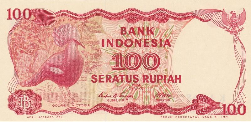Indonesia - 100 Rupias 1984 (Variantes Calcográfica y Litográfica) Indone13