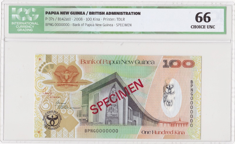 Papua Nueva Guinea - Specimen 100 Kina 2008 Specim10