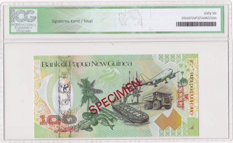 Papua Nueva Guinea - Specimen 100 Kina 2008 Specim11
