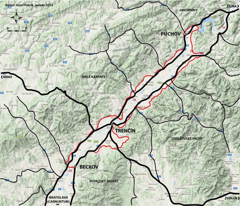 Trenčín - nevýslovná pevnosť Považia Mapa10
