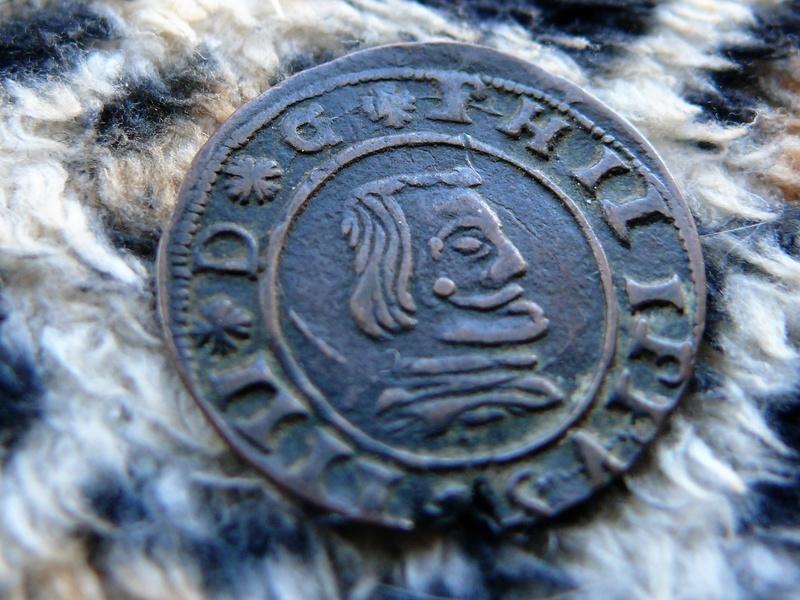 16 maravedís de Felipe IV 1663 Segovia S, falsa de época. P1080920