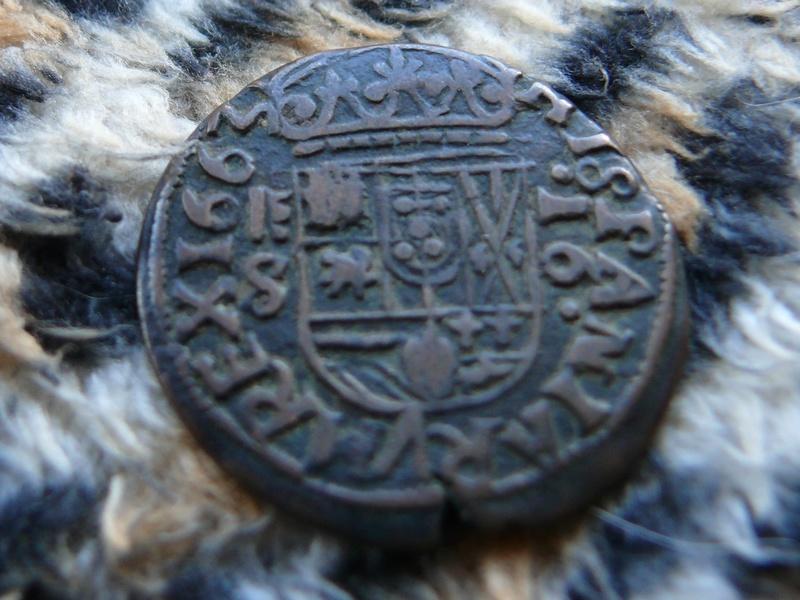 16 maravedís de Felipe IV 1663 Segovia S, falsa de época. P1080921