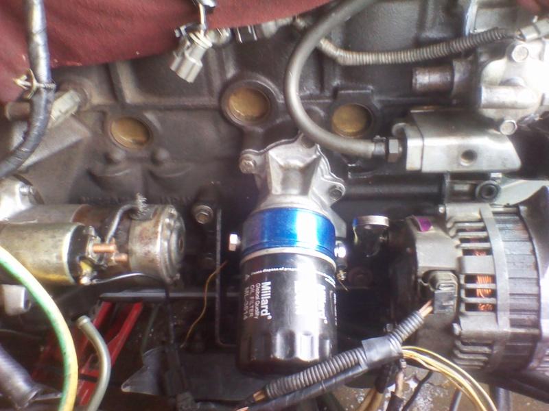 asi se instala un enfriador de aceite en KA24de Img_2023