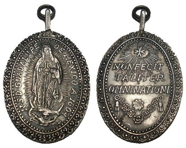 Virgen de Guadalupe de Mexico / Inscripción Plata (R. M. SXIX-O87)(MAM) Foto12