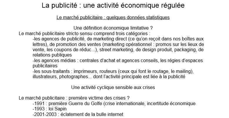 La Publicité : Une activité économique régulée Sans_t10